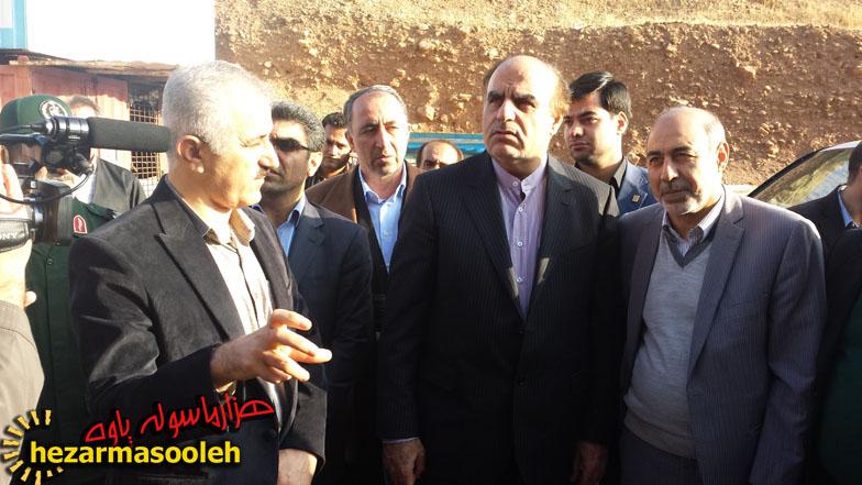 استاندار کرمانشاه از پروژه های بیمارستان 64 تختخوابی پاوه و آبرسانی هانی کوان به این شهر بازدید کرد