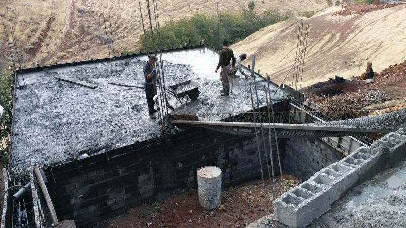 گزارش ششم در ارتباط با ساخت مسکن برای دو خواهر  نیازمند در نوریاب