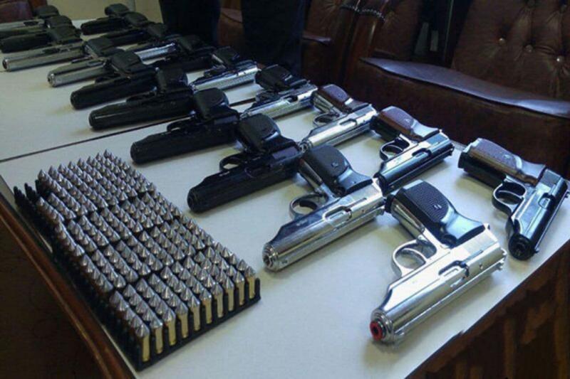 ۱۹ قبضه اسلحه در پاوه کشف شد