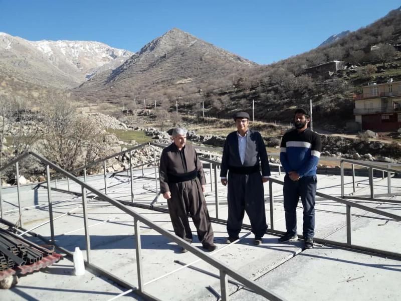 بازدید رئیس اداره آموزش و پرورش منطقه نوسود از پروژه ساخت دبستان شش کلاسه روستای هانی گرمله