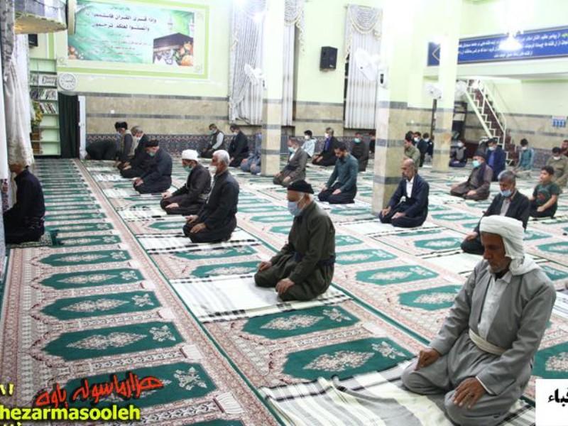 گزارش تصویری از برگزاری نمازهای سنت تراویح در پاوه
