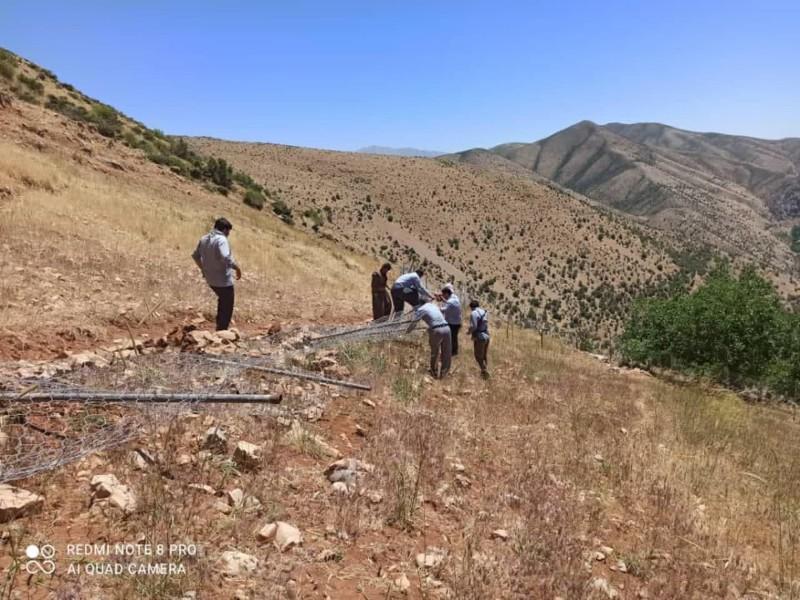 ۷۰۰۰ هزار مترمربع از اراضی ملی شهرستان پاوه خلع ید و از تصرف خارج شد