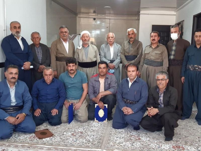 افتتاح خانه اهدایی به دو خواهر نیازمند در روستای نوریاب پاوه+تصاویر