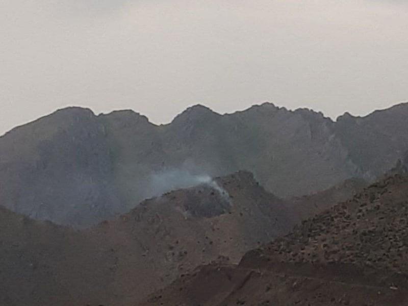 وقوع چند فقره آتش سوزی در مراتع شهرستان پاوه بر اثر رعد و برق
