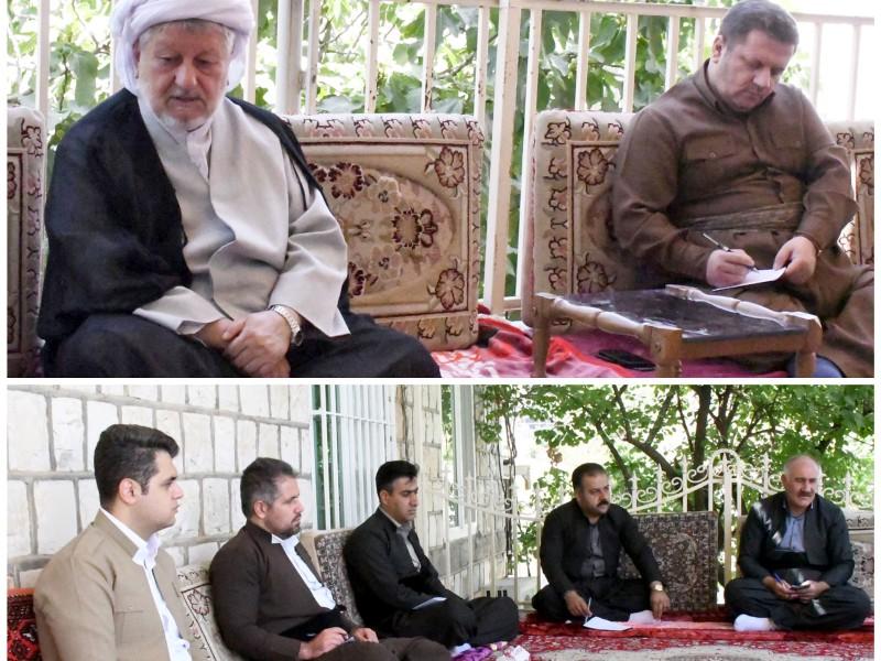 منتخبین ششمین دوره شورای اسلامی شهر پاوه با حاج ماموستا ملا قادر قادری دیدار کردند